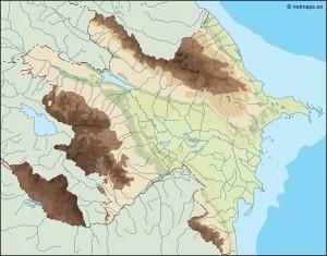 azerbaijan illustrator map
