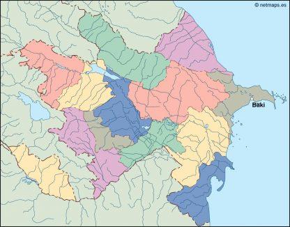 azerbaijan vector map