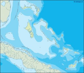 bahamas illustrator map