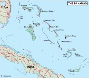 bahamas political map
