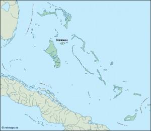 bahamas vector map