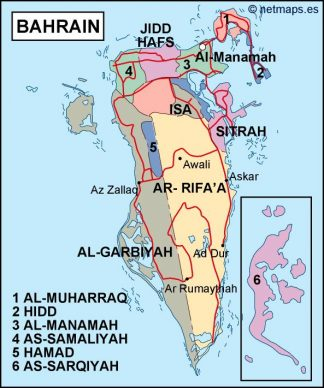 bahrain political map