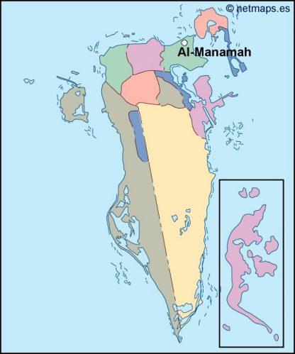 bahrain vector map