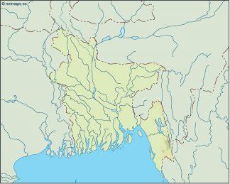 bangladesh illustrator map