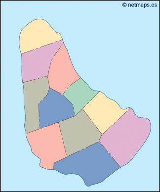 barbados blind map