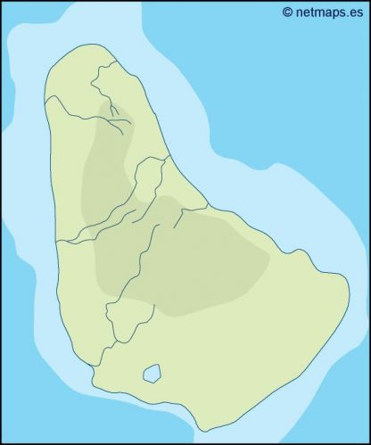 barbados illustrator map