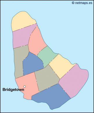 barbados vector map