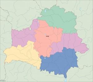 belarus vector map