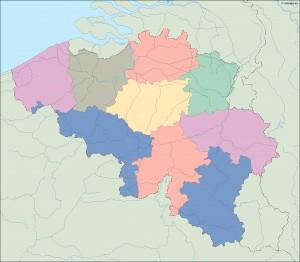 belgium blind map