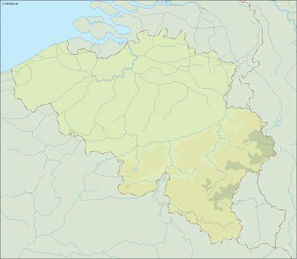 belgium illustrator map