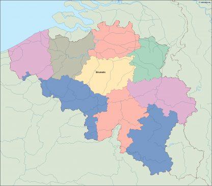belgium vector map
