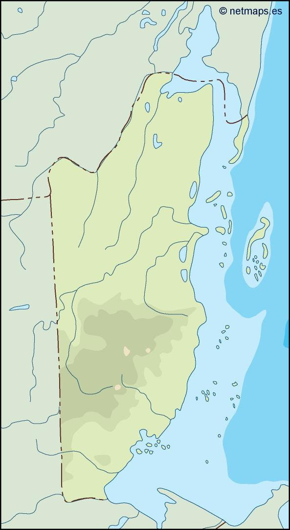 belize illustrator map