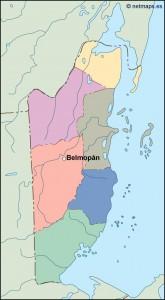 belize vector map