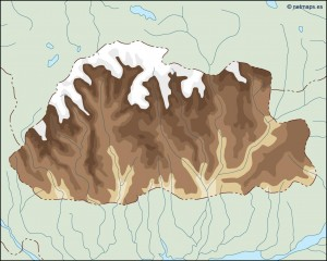 bhutan illustrator map