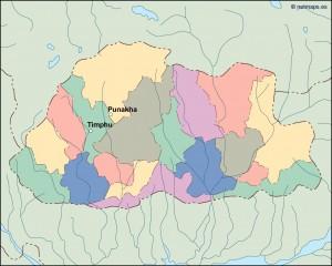 bhutan vector map