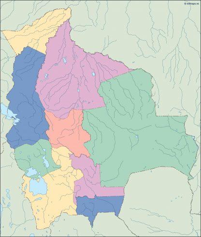 bolivia blind map