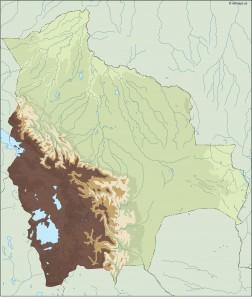 bolivia illustrator map