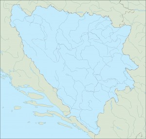 bosnia herzegovina blind map