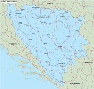 bosnia herzegovina political map