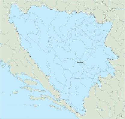 bosnia herzegovina vector map