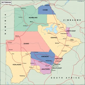 botswana political map