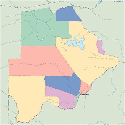 botswana vector map
