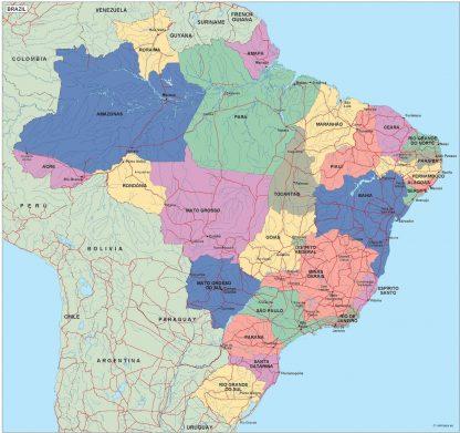 brazil political map
