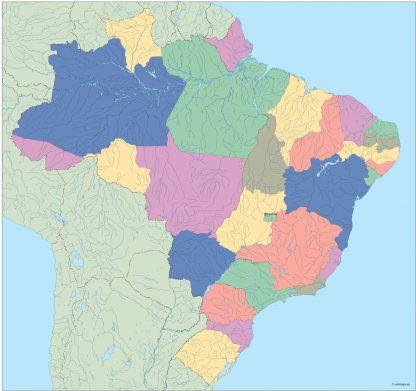 brazil vector map
