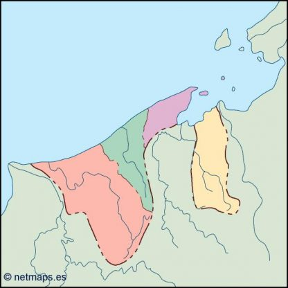 brunei blind map