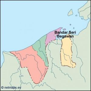 brunei vector map