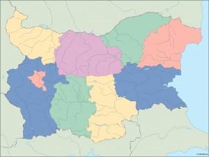 bulgaria blind map