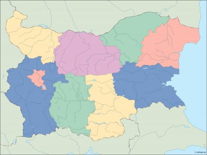 bulgaria blind map