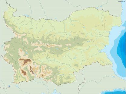 bulgaria illustrator map