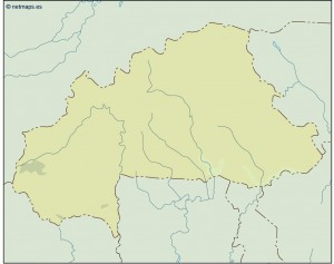 burkina faso illustrator map
