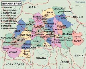 burkina faso political map