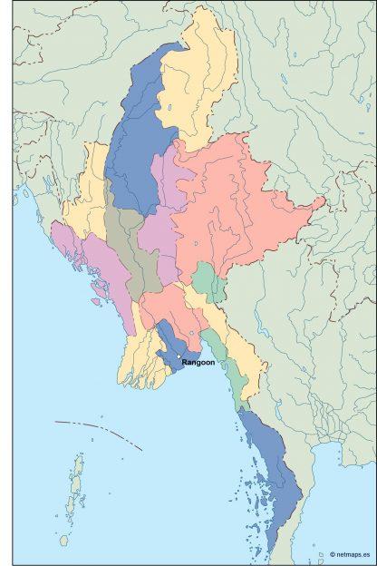 burma vector map