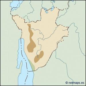burundi illustrator map