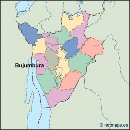 burundi vector map