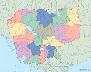 cambodja blind map