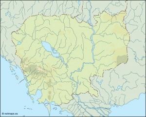cambodja illustrator map