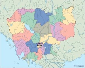 cambodja vector map