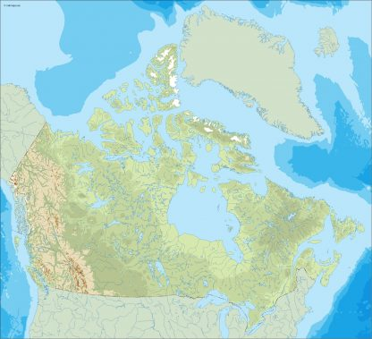 canada illustrator map