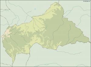 central africa illustrator map