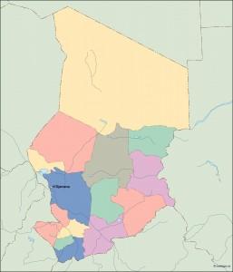 chad vector map