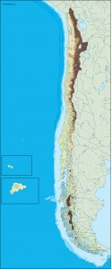 chile illustrator map
