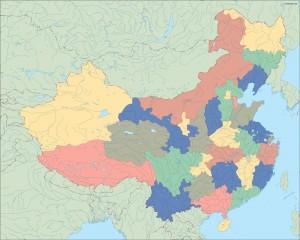 china blind map