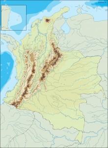 colombia illustrator map
