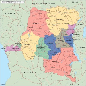 congo dem rep political map
