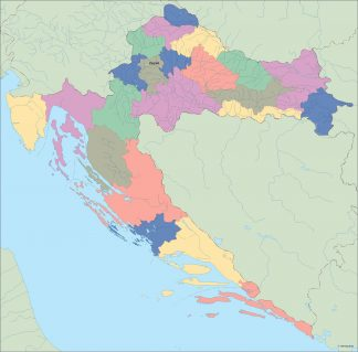 croatia vector map