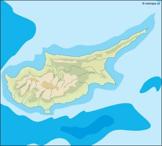 cyprus illustrator map